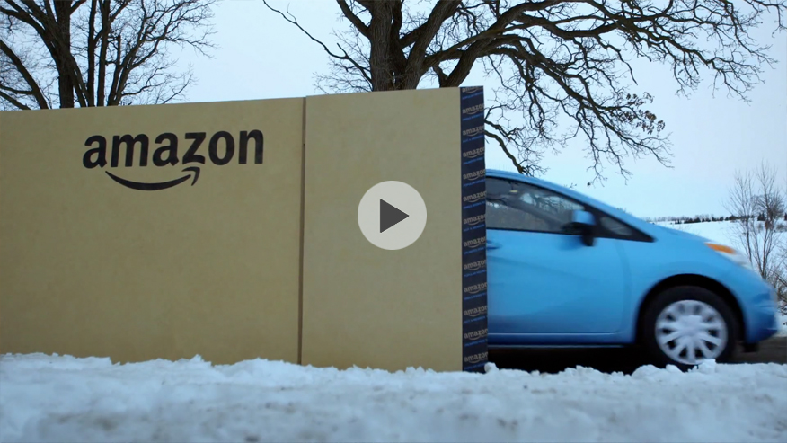 Amazon delivers a Nissan Versa Note