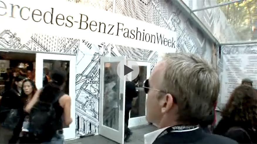 S. Russel Groves, Mercedes-Benz Fashion Week Star Lounge architect/interior designer, MBFW S/S 08